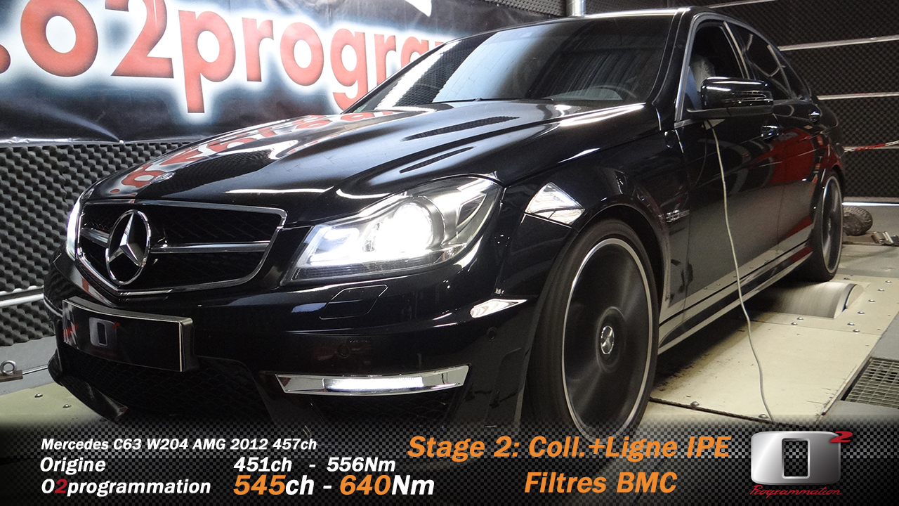 o2programmation mercedes c63 amg w 204 stage 2 545ch 640nm 334kmh boitier additionnel. Black Bedroom Furniture Sets. Home Design Ideas