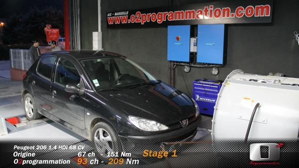 rm performance reprogrammation moteur auto peugeot 206 2002 2007 1 4 hdi 68ch. Black Bedroom Furniture Sets. Home Design Ideas